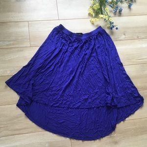 Hi-Low Blue Purple Indigo Ballerina Skirt!